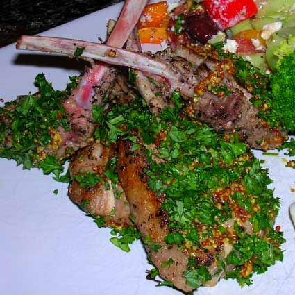 Pan-Seared-Lamb-Chops-with-Fresh-Herbs