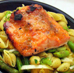 Salmon-on-Orange-Pasta-Salad