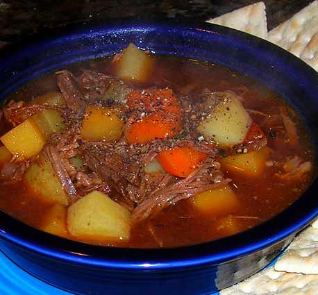 Veggie-Leftover-Brisket-Soup
