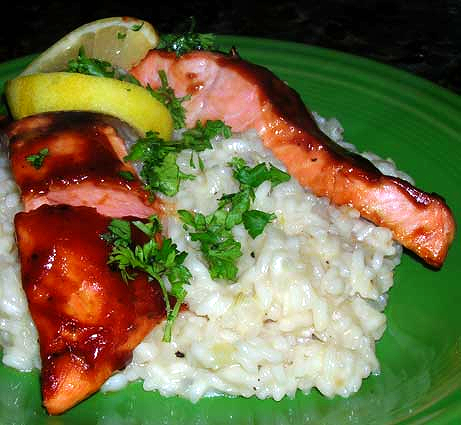 Salmon-with-Whisky-BBQ-Sauce
