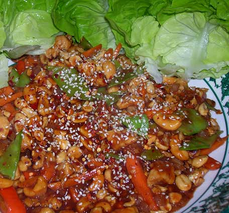 Spicky-Cashew-Chicken-Lettuce-Wraps