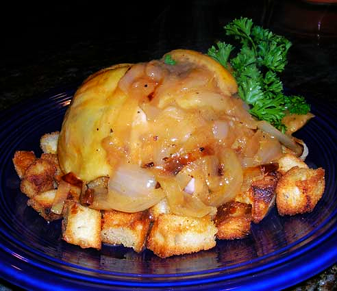 Ina's-Lemon-Chicken-on-Croutons