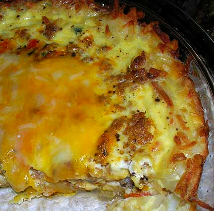 Italian-Quiche-with-Hash-Brown-Crust