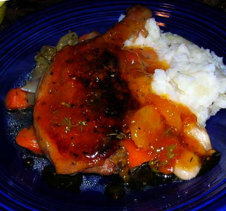 Braised-Duck-Legs-with-Apricot-Sauce