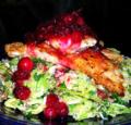 Chicken-Paillards-with-Cranberry-Sauce-on-Slaw